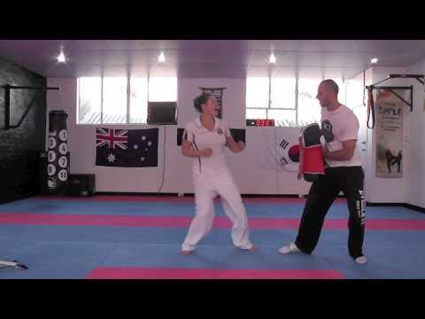 Taekwondo kicking at 8 weeks post partum - Adelaide Taekwondo Academy