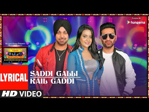 SADDI GALLI/RAIL GADDI (LYRICAL VIDEO) | Mixtape Punjabi |Deep Money | Preet Harpal |Amruta Fadnavis