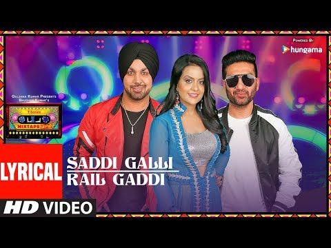 SADDI GALLI/RAIL GADDI (LYRICAL VIDEO) | Mixtape Punjabi |Deep Money | Preet Harpal |Amruta Fadnavis