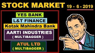 ( L&T Finance) (Yes Bank) (kotak Mahindra Bank) (Aarti industry) (Atul ltd) news in Hindi by SMkC