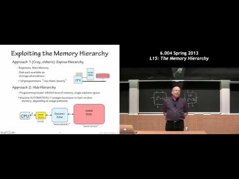 MIT 6.004 L15: The Memory Hierarchy