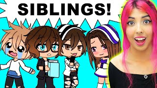 3 Brothers & 1 Sister (Gacha Life Mini Movie Reaction)