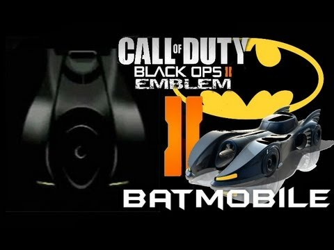 Black Ops 2 Emblem - Batmobile (batman) - Tutorial
