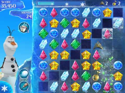 Frozen Free Fall Level 124 Live Action Play Walkthrough