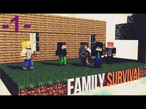Minecraft Family Survival Sezon 2 Bölüm 1 Madenlere Yat ve Erzak Topla