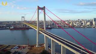 Maputo-Katembe Bridge is the longest suspension cross-sea bridge in  Mozambique.