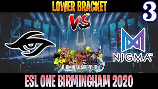 Secret vs Nigma Game 3 | Bo3 | Lower Bracket ESL One Birmingham 2020 | DOTA 2 LIVE