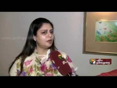 Nagma's exclusive interview to Puthiyathalaimurai