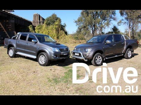Mitsubishi Triton v Toyota HiLux Comparison Review   Drive.com.au