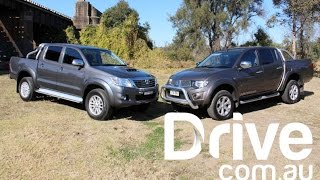 Mitsubishi Triton v Toyota HiLux Comparison Review