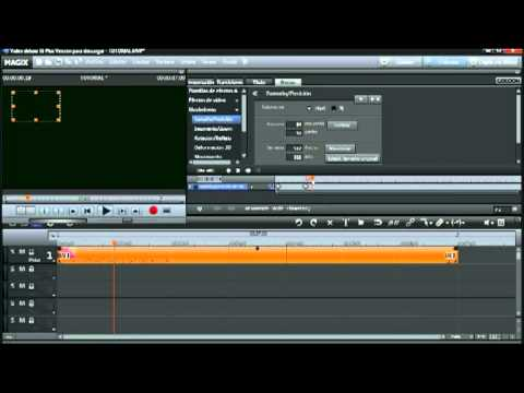 TUTORIAL MAGIX VIDEO DELUXE ANIMACIÓN USANDO FOTOGRAMAS CLAVES O KEYFRAME.