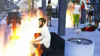 I Put 20 People that Love Fire in a Wood Cabin together - The Sims 4