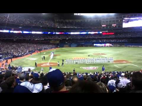 Tuesday, April 2nd, 2013 - Rogers Centre in downtown Toronto, Ontario, Canada. Season/Home Opener for the Toronto Blue Jays, facing the Cleveland Indians. We...