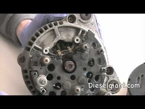 VW Jetta Tdi Alternator removal & Voltage Regulator  Repair part 1