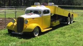 36 Chevy custom tow truck