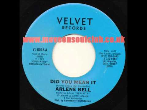 Arlene Bell - Did You Mean It - Velvet