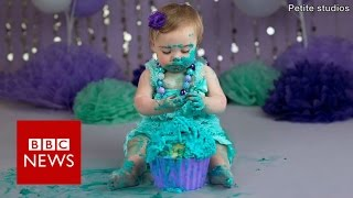 Cake smash: Parents who spend £800 on their child's first birthday.- BBC News