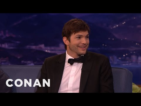 Ashton Kutcher's Huge Prosthetic Penis  - CONAN on TBS
