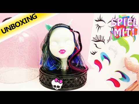 Monster High Deutsch: Anti-Styling Head Schmink und Frisierkopf| Unboxing