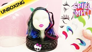Monster High Deutsch: Anti-Styling Head Schmink und Frisierkopf| Unboxing
