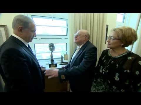 PM Netanyahu Meets Holocaust Survivor Avraham Niederhoper