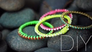 DIY Stacking Bangles {Armcandy}