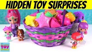 Giant Basket Of Surprise Eggs Openings Disney Frozen MLP Shopkins Fashems   PSToyReviews