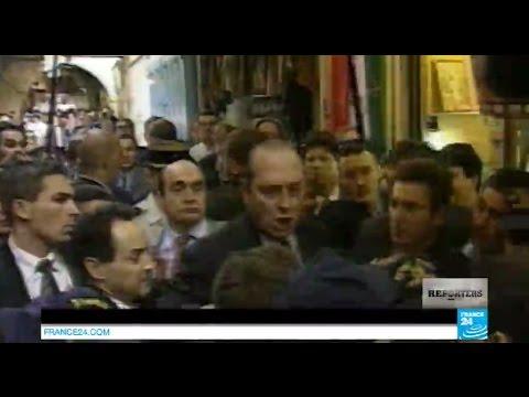 Fou rire de Tony Blair après le coup de sang de Jacques Chirac à Jérusalem