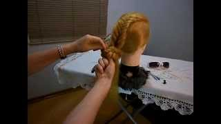 Penteado Espinha de Peixe Fashion - Fishbone Fashion Hairstyle