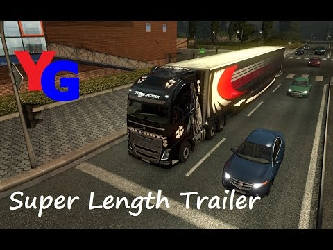 ETS2 Mod Review: Long Trailers. COD Skin and HazChem/ADR Signs