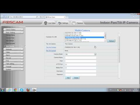 Foscam HD IP cameras - How to add multi camera in LAN