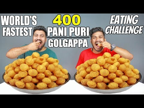 400 PANI PURI/GOLGAPPA EATING COMPETITION | PANI PURI CHALLENGE |  Food Challenge India (Episode-58) thumbnail