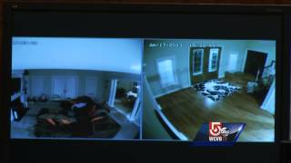 Prosecutors show surveillance video of Aaron Hernandez inside home