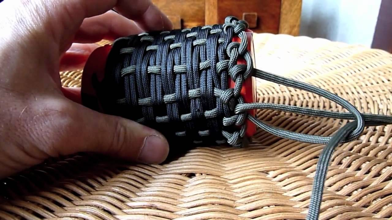 Paracord pouch youtube for Paracord drawstring bag