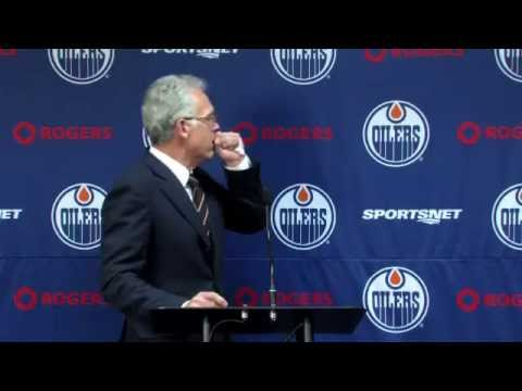 Edmonton Oilers press conference