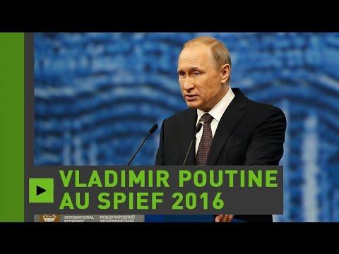 Vladimir Poutine ouvre la session plénière du Forum de Saint-Pétersbourg (Direct du 17.06.16)