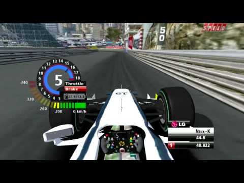 rFactor - Formula 1 Onboard lap at Monaco 2009 with Brawn GP HD