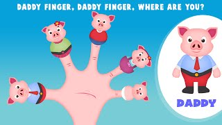 The Finger Family Pig Family Nursery Rhyme | Pig Finger Family Songs