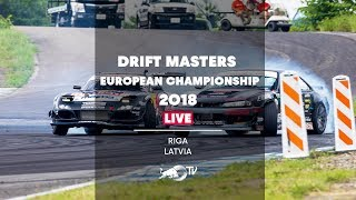 Drift Masters European Championship 2018 in Riga, Latvia - Qualifying LIVE