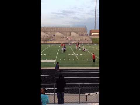 Jaelon Watkins Lake Olympia Middle School got 1st in the 300m hurdles