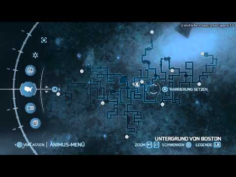 Assassin's Creed 3 - Boston and New York Underground Maps - Fast Travel Stations - HD