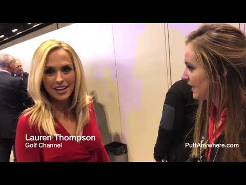 Golf Channel Lauren Thompson  introduction to PuttAnywhere  (and loving it) PGA Show 2018 thumbnail
