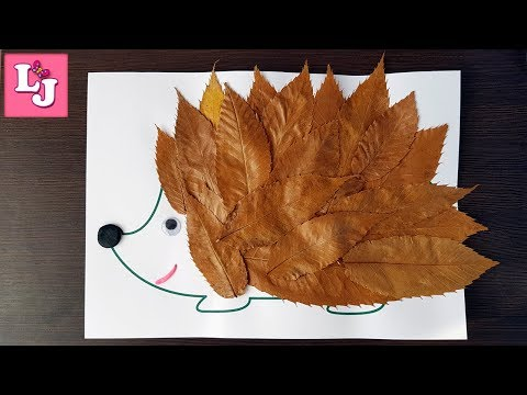 Ежик с листьями поделка 37