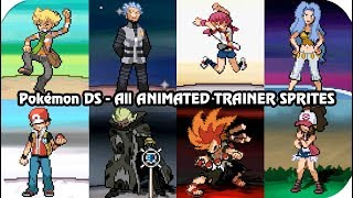 Pokémon Games - Every Important Trainer Sprite Animations