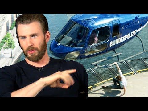 Chris Evans Talks Bulging Biceps & Helicopter Scene - Captain America Civil War