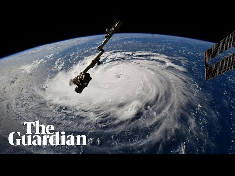 Footage from space shows extent of storm Florence