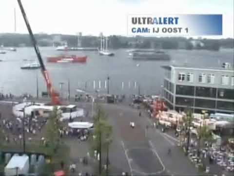 Korte demonstratie van Observision technologie tijdens de Amsterdam Sail ...
