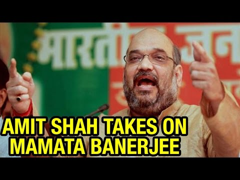 BJP President Amit Shah takes on CM Mamata Banerjee at Kolkata rally