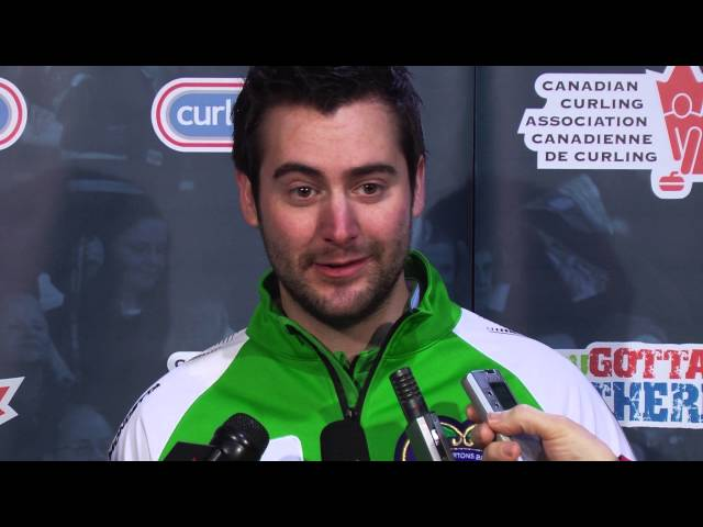 Draw 12 Media Scrum - 2013 Tim Hortons Brier