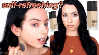 NEW Shiseido Synchro Skin Self-Refreshing FOUNDATION {First Impression Review & Demo}